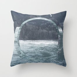 Snoho Rivrr Throw Pillow