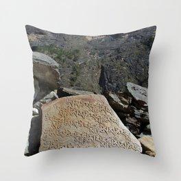 Prayer Stones en route to Pisang Throw Pillow