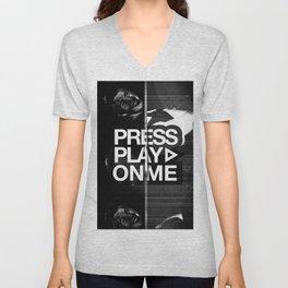 Pressplayonme Unisex V-Neck
