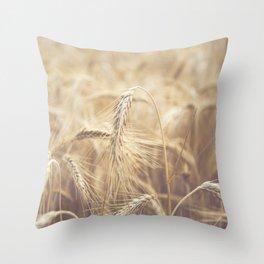 Summer time on farm Throw Pillow