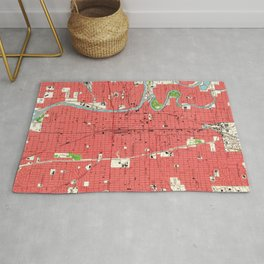 Vintage Map of Wichita Kansas (1961) Rug