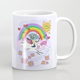 Unicorn Rainbow Ride to Love - Steve, the loving zombie Coffee Mug