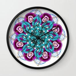 turquoise snakes mandala Wall Clock
