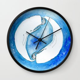 The circle of the whales Wall Clock