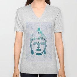 Buddha Head turquoise II Unisex V-Neck