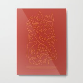 F1 Circuits Infographic- Orange and Red Metal Print