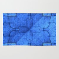 origami Area & Throw Rugs featuring Origami by Lyle Hatch