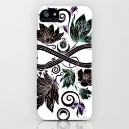 Infinity Moon Garden in Pastel at Midnight iPhone Case