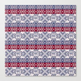 ethnic african stipes patern Canvas Print