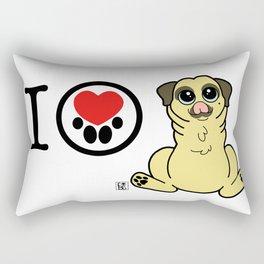I Heart furBags - Pug Rectangular Pillow