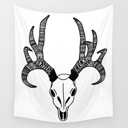 Tribal Deer Skull Wall Tapestry