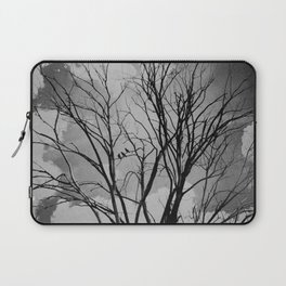Black and White Crows Black Birds in a Tree Bokah Rustic A275 Laptop Sleeve