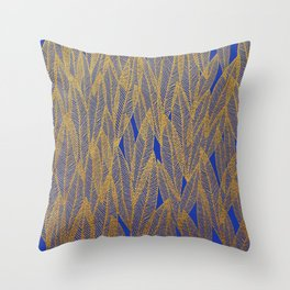 Golden Leaves Throw Pillow