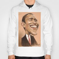 obama Hoodies featuring Borack Obama by Lars-Erik Robinson