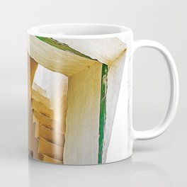 Wood green door in the countryside of Salento, Italy Coffee Mug