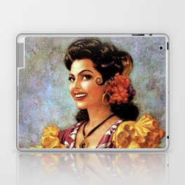 Mexican Golden Flamenco Calendar Girl by Jesus Helguera Laptop & iPad Skin