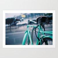 Riding Backwards Art Print