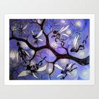 fairies Art Prints featuring fairies by sad little monsters