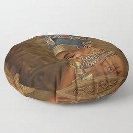 Nefertiti - Neferneferuaten the Egyptian Queen Floor Pillow