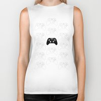 xbox Biker Tanks featuring Xbox One Controller by Tino-George