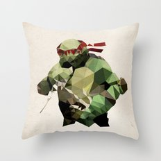 Polygon Heroes - Raphael Throw Pillow
