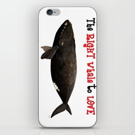 The right whale to love iPhone Skin