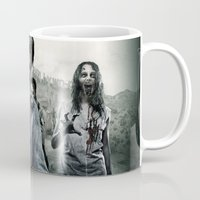 the walking dead Mugs featuring Zombie by Joe Roberts
