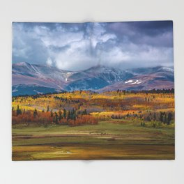 Fall in the Rockies Throw Blanket