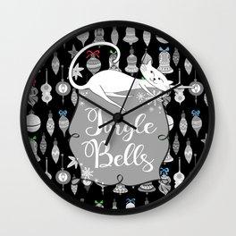 Jingle Bells - Christmas Cats Wall Clock