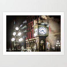 Steam Clock  Art Print