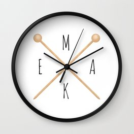 MAKE  |  Knitting Needles Wall Clock