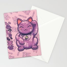Hanami Maneki Neko: Yuu (Gentle) Stationery Cards