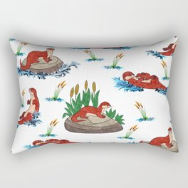 Otter Love of Otters Rectangular Pillow