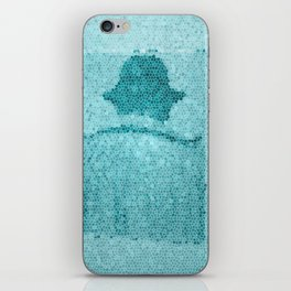 photo dos back blue iPhone Skin