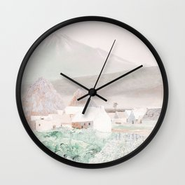 Collage Mountain9 Wall Clock