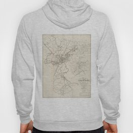 Vintage Map of Taunton MA (1915) Hoody
