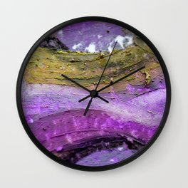 Purple Ways Wall Clock