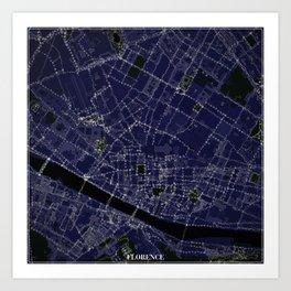 Florence by Night Art Print