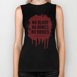 Vegan for the Animals: no blood, no bones, no bodies Biker Tank