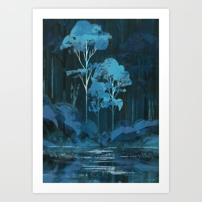 Downpour Art Print