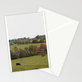 Donkeys in an Autumn Landscape Stationery Cards