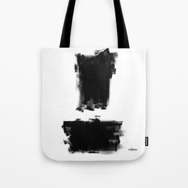 Black and White Abstract Dry Brush  Tote Bag