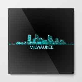 Milwaukee Skyline Metal Print