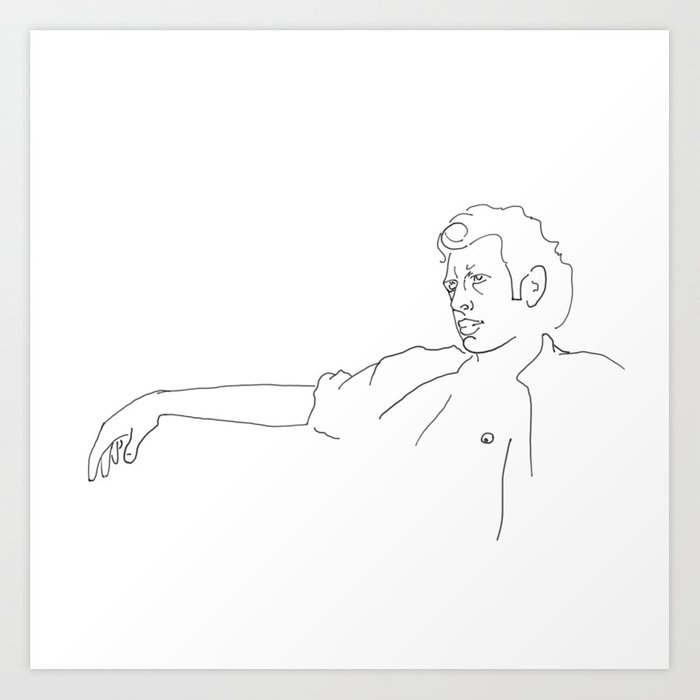 Jeff Goldblum Kunstdrucke
