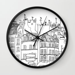 Paris Near Cathedral Notre-Dame Wall Clock