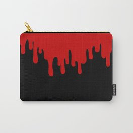 Red Drip on Black Carry-All Pouch