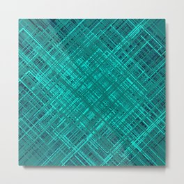 Random Abstract Line Pattern Metal Print