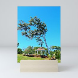 Gazebo and Leaning Tree Mini Art Print