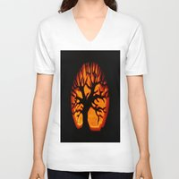 halloween V-neck T-shirts featuring HalloWeen by 2sweet4words Designs