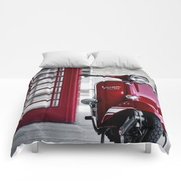 Classic Red Vespa Comforters